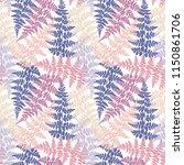 fern frond herbs  tropical... | Shutterstock .eps vector #1150861706