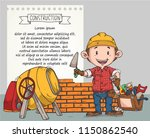 doodle builder on duty or... | Shutterstock .eps vector #1150862540