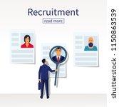 recruitment concept.... | Shutterstock .eps vector #1150863539