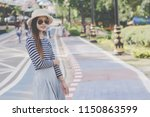 close up shot of stylish young... | Shutterstock . vector #1150863599