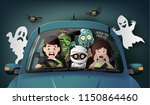 happy halloween party  ghost... | Shutterstock .eps vector #1150864460