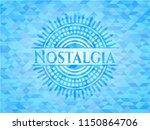 nostalgia light blue emblem.... | Shutterstock .eps vector #1150864706