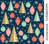 christmas seamless pattern for... | Shutterstock .eps vector #1150869299