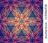 Abstract Mandala Necklace ...