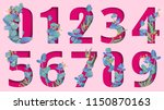 pink carved paper isolated... | Shutterstock .eps vector #1150870163