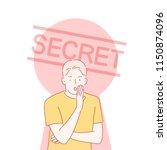 hannam has a secret story in... | Shutterstock .eps vector #1150874096