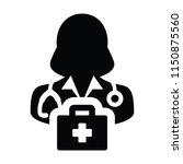 medical icon vector female...   Shutterstock .eps vector #1150875560