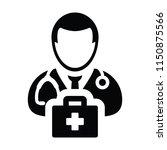 health icon vector male doctor... | Shutterstock .eps vector #1150875566