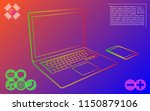electronics colorful vector... | Shutterstock .eps vector #1150879106
