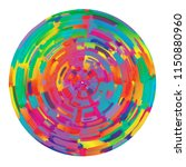 grunge art colorful circle... | Shutterstock .eps vector #1150880960