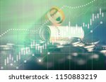 candle chart on the financial...   Shutterstock . vector #1150883219