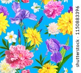 seamless pattern with peonies ...   Shutterstock . vector #1150883396