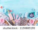 various kitchen baking utensils.... | Shutterstock . vector #1150885190