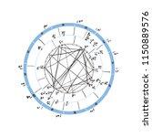 horoscope natal chart ... | Shutterstock .eps vector #1150889576