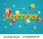 realistic detailed 3d lotto... | Shutterstock .eps vector #1150890929