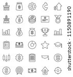 thin line vector icon set  ... | Shutterstock .eps vector #1150891190