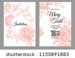 wedding invitations cards... | Shutterstock .eps vector #1150891883