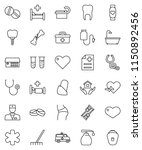 thin line vector icon set  ... | Shutterstock .eps vector #1150892456