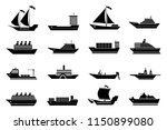 boat and ship icons collection | Shutterstock .eps vector #1150899080