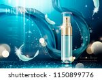 skincare spray with weaving... | Shutterstock .eps vector #1150899776