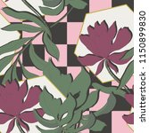 elegance pattern with flowers... | Shutterstock .eps vector #1150899830