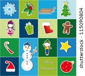 colorful christmas background... | Shutterstock .eps vector #115090804