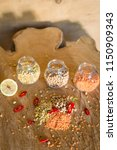 raw cereals set on wooden...   Shutterstock . vector #1150909343