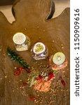 raw cereals set and fruit ...   Shutterstock . vector #1150909616