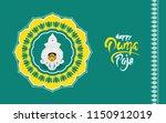 indian religious festival derga ... | Shutterstock .eps vector #1150912019