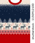 ugly sweater merry christmas... | Shutterstock .eps vector #1150912100
