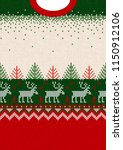 ugly sweater merry christmas... | Shutterstock .eps vector #1150912106