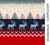 ugly sweater merry christmas... | Shutterstock .eps vector #1150912109