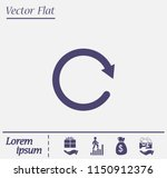 redo symbol with shadow on a... | Shutterstock .eps vector #1150912376