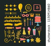 birthday collection elements.... | Shutterstock .eps vector #1150914860