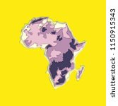sketch african continent banner.... | Shutterstock .eps vector #1150915343