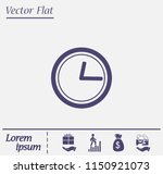clock icon with shadow on a...   Shutterstock .eps vector #1150921073