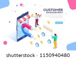 shopping process of customer.... | Shutterstock .eps vector #1150940480
