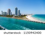 skyline of miami  florida  and... | Shutterstock . vector #1150942400