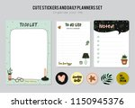 set of planners and to fo lists ... | Shutterstock .eps vector #1150945376