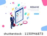 web page  banner for resume... | Shutterstock .eps vector #1150946873