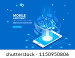 flat isometric banner  ai of... | Shutterstock .eps vector #1150950806