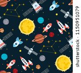 rocket space globe solar system ...   Shutterstock .eps vector #1150951079