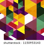 multicolored triangles abstract ...   Shutterstock .eps vector #1150953143