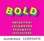 vector of modern bold font and... | Shutterstock .eps vector #1150953470