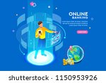 vr  virtual augmented reality... | Shutterstock .eps vector #1150953926