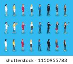 representatives of professions  ... | Shutterstock .eps vector #1150955783