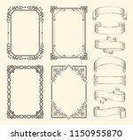 frames and ribbons vector... | Shutterstock .eps vector #1150955870