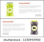 preserved food kept in glass... | Shutterstock .eps vector #1150955900