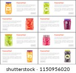preserved food banners set of... | Shutterstock .eps vector #1150956020