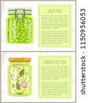 green peas and canned zucchini... | Shutterstock .eps vector #1150956053